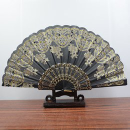 "Wholesale Restore Antiques - Folding Hand Held Plastic Silk Fans Bulk for Women - Spanish   Chinese   Japanese Palace Style Restoring Ancient Ways 9.0 ""(22cm) (Mixed"