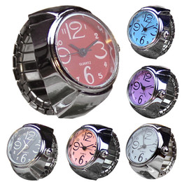 Wholesale Ladies Stylish Watches - Fashion Stylish Finger Watch Ring style watches Creative Steel Round Elastic Quartz Finger Ring Watch Lady Girl Christmas gift