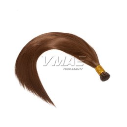 Wholesale Color Keratin Glue Sticks - I Tip Prebonded Hair Extensions 0.8g strand 100s Keratin Glue Stick Hair Brazilian Straight Human Hair Extensions #1B#4#6#8#60#613