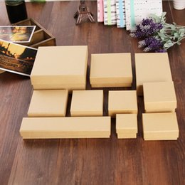 Wholesale Blank Accessories - MM28 Paper Jewelry Boxes Earring Boxes Kraft Earring Packing Box Blank Accessory Packaging Jewelry Set Box DIY Gift Boxes