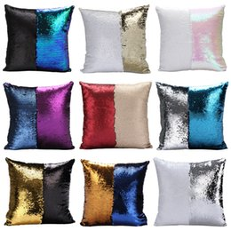 mermaid sequins pillow glamour cover Coupons - Fashion gift magic glamour bright pillow 2 color sequin mermaid pillow covers reversible cushion cover home sofa car-styling decor CASE 23 c