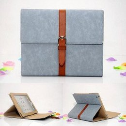 Wholesale Ipad4 Smart Cover New - Wholesale-Retro Portfolio style PU leather case for iPad 2 Smart stand holder cover for the New ipad 3 for ipad4 Retina leather Bag pouch