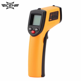 Wholesale Thermometer F Degrees - GM320 Digital Non-Contact IR Laser Digital C F Selection Thermometer Gun Handheld -50~330 Degree Thermoregulator with Backlight