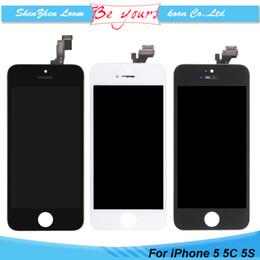 Tela do iphone 5s do oem on-line-Para iphone 5 lcd 5s 5c reparação parte display touch screen digitador assembléia substituição um +++ grau premium qualidade oem
