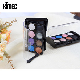 Wholesale Two Color Combination - Fashionable Eyeshadow Disk In Eight Color Combination With Two Color Blush Powder For Eye And Face Beauty Cosmetic Powder