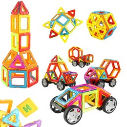 Wholesale Wheels For Toy Cars - 67 PCS Magnetic Blocks - Magnetic Building Tile Set with Car Wheels, Educational Creative Construction Imagination Toys for Baby, Kids, Gi