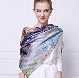 Wholesale Digital Print Silk Scarves - 110*110cm New 2016 100% Silk square Scarf Shawl digital Print Brand Vintage Scarves high quality Silk Scarves wholesale price