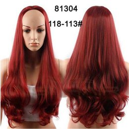 Wholesale Cheap Ombre Wigs - Synthetic Half Wig for Women Sale 3 4 Natural Cheap Hair Wig Long Synthetic Hair Wigs Cheap Balck Curly Ombre Wavy Wigs