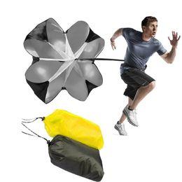 Wholesale parachute running chute - Professional Adjust Speed Training Resistance Parachute Power Running Chute Football Exercise Tool Speed Soccer Equipment