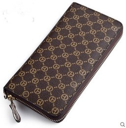 Wholesale Womens Leather Checkbook Wallet - Free shipping Hot Sell Wholesale and retail 2017 new PVC Leather mens and womens wallets purse card Holders