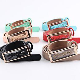 Wholesale Factory Vinyl - New belt wholesale Korean leopard head belt, ladies multi-color optional, factory direct wholesale