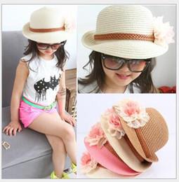 2019 bambino sveglio del cappuccio del fiore Berretti fiore bambina 2017  nuova estate cappello da spiaggia 6fc15ff2ece1
