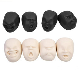 Wholesale Rubber Face Doll - 50pcs Fun Anti-stress Vent Human Face Ball EmotionToy Resin Relax Doll Adult Stress Relieve Toy Soft Ball Gift for Kid