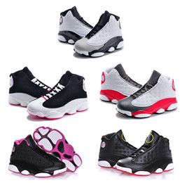 Wholesale Cheap Gold Shoes For Kids - New Cheap Air Retro 13 Kids Basketball Shoes Children 13s High Quality Sports Shoes Youth Boy Girl Basketball Sneakers For Sale US11C-3Y
