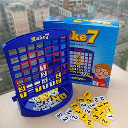 Wholesale Fun Educational Board Games - Wholesale- Portable Travel Kids Board Game Educational Math Toys Make 7 Fun Toy Puzzles For Children Christmas Birthday Gifts Family Games