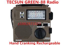 2019 dvd de navegación de lexus Venta al por mayor-TECSUN GREEN-88 GREEN88 FM / AM / SW banda completa económica / ambiental / emergencia de radio con luz Dynamo Hand Cranking Recargable