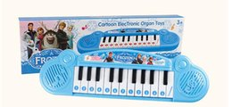 Wholesale Wholesale Keyboard Pianos - Musical instruments toy for kids Frozen girl Cartoon electronic organ toy keyboard electronic baby piano with music 8 song (1704007)