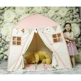 Wholesale Toy Teepee - Wholesale- Free Love @pink color childre game room kids play house Indian children tents children play tent Kids Teepee