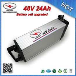 gros chargeurs de batterie au lithium-ion Promotion Vente en gros 48V Electric Bike Battery 48V 24Ah Lithium ion batterie avec 18650 cellule 30A BMS 54.6V 2A Chargeur + EXPÉDITION