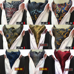 Wholesale Polyester Ascot - Fashion Retro Paisley Cravat Luxury Men Wedding Formal Cravat British Style Gentleman Silk Scarves Neck Ties Suit Scarves Business Necktie
