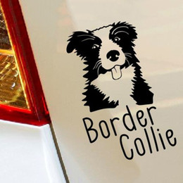 Wholesale Decal Borders - Border Collie Pet Dog car window sticker art decal vinyl stickers Motorcycle