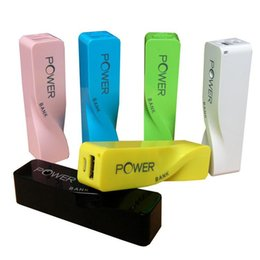 Wholesale Emergency Powerbank - 2600mAh Power Bank USB External Battery Charger Portable Curved Perfume Powerbank Emergency backup battery For iphone 6 Samsung Galaxy