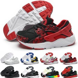 Wholesale Kids Hunting Boots - 2018 New kids Air Huarache Sneakers Red Green Camo Rainbow Lightweight Hurach Running Shoes breathable Huaraches Kids Shoes Boots size 28-35