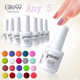 Wholesale Usa Polishes - Wholesale-Elite99 Gel Polish 5pcs Gel Lacquer UV Curing Top Coating Base Foundation DHL Free To USA Wholesale Price Gel Nail Polish
