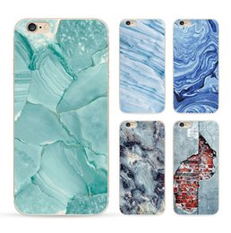 Wholesale Iphone Shells - phone shell marble painted phone shell relief soft shell TPU creative art mobile phone sets