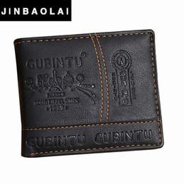 Wholesale Mens Leather Bags Wholesale - Wholesale- JINBAOLAI Brand Leather Wallet 2016 Men Wallet Men's Short Purse Men Bags Coin Wallets Clip Cowhide Mens Wallet #ZTYW