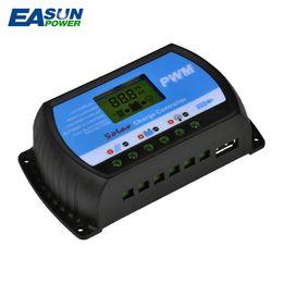 Wholesale Solar Cells 5v - Cool Solar Controller 30A PWM Solar Charge Controller LCD USB 5V Solar Regulator 24V Charger 12V Battery Charge Controller