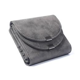 Wholesale High End Leather Bags Wholesale - Wholesale- Brand New 2017 Fashion Vintage Double Cover High-End Matte Leather Women Bag Short Design Female Purse 2 Folds Money Clip