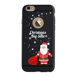 Wholesale Case Iphone Santa Claus - For iPhone 6s Plus 5.5-inch TPU CasesXINCUCO Merry Christmas TPU Case for iPhone 6s Plus   6 Plus - Santa Claus Big Sale   Black