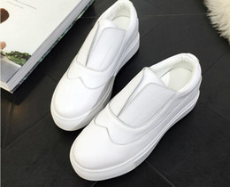 Wholesale Ladies Platform Shoes Elastic Band - 2017 Elegant Loafers Shoes Women Casual Lace Round toe Shoes Woman Fashion Sweet Platform Increasing Ladies Shoes