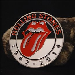 Wholesale Rolling Stones Band - New Famous Rolling Stones British Rock Band Music Colored 24k Silver Plated Coin Token