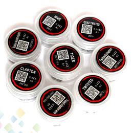 Bobinas de clapton prefabricadas online-Bobinas precocidas precocidas Clapton Hive Tiger Quad Twisted Ribbon trenzado clapton Alambres de calefacción Se venden por PC Sin DHL