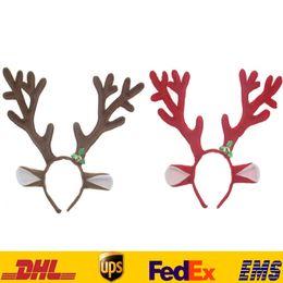 Wholesale Reindeer Antlers Headband - Easter Antler Reindeer Headband Christmas Cosplay Costume Party Deer Child Adult Hair Wear Xmas Decoration Santa PX-H27