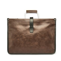 Wholesale Vintage Leather Briefcase Laptop - Wholesale- New Vintage Leather Brown Black Men Briefcase Business Laptop Tote Bag Men's Messenger Bags Shoulder Bag Large Handbag