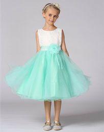 Wholesale Teenage Princess Style Dresses - Retail Kids Dresses For Girls Wedding Princess Dress Birthday Clothes Flower Dress Tulle Formal Teenage Girl Party Dress L18705