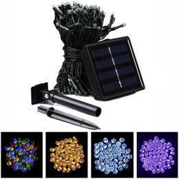 Wholesale Lighted Thanksgiving Decorations - Muti-color LED Solar String Fairy Lights 22m 200 LED Waterproof Thanksgiving XMAS New Year Lighting Indoor Outdoor Decoration