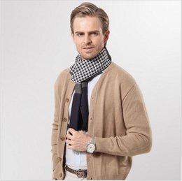 Wholesale Men S Headbands - Autumn And Winter thousand Birds pattern business men scarves Stripes warm men 's scarves 11 colors YYA569