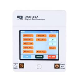 Wholesale Portable Oscilloscope Dso - Freeshipping osciloscopio DSO 112A TFT Touch Screen Portable Mini Digital Oscilloscope USB Interface 2MHz 5Msps oscyloskopy osciloscop