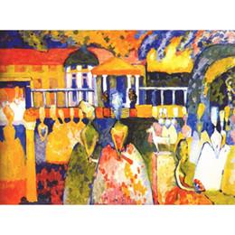 2019 pinturas abstratas senhora Pintados à mão pinturas abstratas Wassily Kandinsky Crinolina Lady art canvas a óleo de alta qualidade home decor pinturas abstratas senhora barato