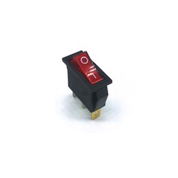 Wholesale Boat Rocker Switch Light - KCD3 50 pieces lot 30*13mm SPST 3PIN Snap-in ON OFF Position Snap Boat Rocker Switch with Indicator light 15A 250V High Quality