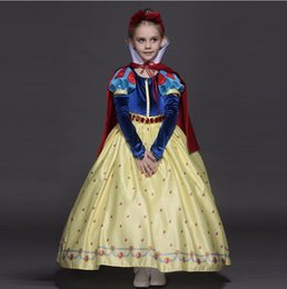 Wholesale Mermaid Formal Ball Gown - New High quality Kids princess sofia dress for baby girls snow White Cosplay Costume children Carnival party tutu dresses