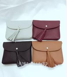 Wholesale Pocket Edition - Popular classic his mobile phone bag Fashion change purse Sue han edition tassel bag branch lines