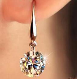 алмазы из южной африки Скидка Оптовая Алмаз корейский ребенок Мода ювелирные изделия серебряные серьги дрель флэш ювелирные изделия для женщин Южная Африка Европа арабский хороший серьги