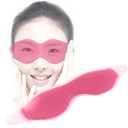 Wholesale Eye Gel Compress - Comfortable Ice Eyeshade Compress Gel Eye Care Tool Summer Sleep Mask Natural Sleeping Blindfold Cover Shade Eye Patch Eyeshades