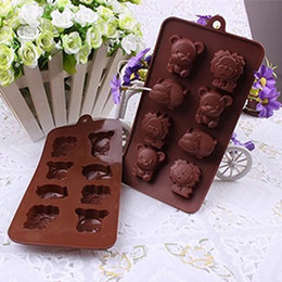 Wholesale Lion Mold - High Quality Hippo Lion Bear Shape Silicone Mold, Jelly, Chocolate, Soap ,Cake Decorating DIY Kitchenware ,Bakeware