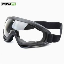 WOSAWE UV Protección Deportes Esquí Snowboard Skate Goggles Gafas Al aire libre Motocicleta Gafas de esquí Gafas Gafas Lente Negro BYJ-011-B desde fabricantes